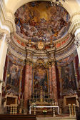 Jezuïetenkerk voor st ignatius in dubrovnik interieur — Stockfoto