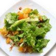 Salad with chicken, oranges, honey and almonds — Foto de Stock