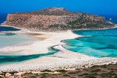 Laguna de la isla y balos gramvousa en creta — Foto de Stock