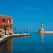 Promenade and lighthouse in Chania, Crete, Greece — Stock Photo #24399771
