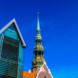 Royalty-Free Stock Photo: Old city in Riga with Saint Peter\'s church