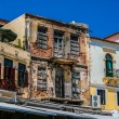 Damaged building in center of Chania, Greece — Stock Photo