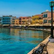 Promenade in Chania, Crete, Greece - Stock Photo