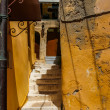 Beautiful empty staircase in Chania, Crete, Greece - Stock Photo