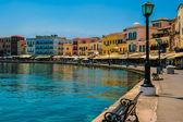 Promenade in Chania, Crete, Greece — Stock Photo