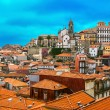 Landscape of famous old town in Porto, Portugal — Stock Photo