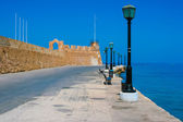 Promenade in Chania, Crete, Greece — Stock Photo