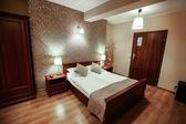Interior of luxury modern hotel room — Stock Photo