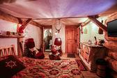 Interior of luxury hotel room in vintage style — Stock Photo