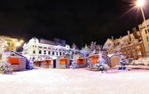 Night view at Riga, Latvia in Christmas time — Foto de Stock