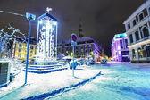Night view at city hall in Old Riga, Latvia — Stock Photo