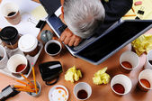 Cluttered Businessman — Stock Photo