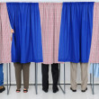 Stock Photo: In Voting Booths