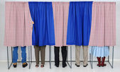 In Voting Booths — Stock Photo