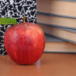 Stock Photo: Apple on Teachers Desk