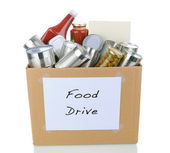 Food Drive Box — Stock Photo
