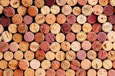 Vägg av vin korkar — Stockfoto