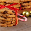 Christmas Cookies with Ribbon — Stock Photo