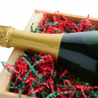 Stock Photo: Champagne Bottle Packed for Christmas