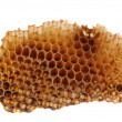 Royalty-Free Stock Photo: Honeycomb Section on White