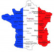 French Wine Map - Stock Photo