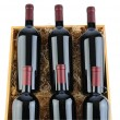 Stock Photo: Case of Cabernet Wine Bottles