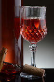 Fancy Glass of Red Wine — Stock Photo