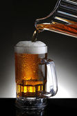 Mug of Beer and Pitcher Pour — Stock Photo