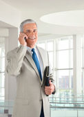 Businessman on Cell Phone — Stock Photo