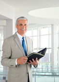 Businessman in Modern Office — Stock Photo