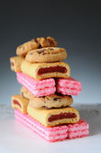Assorted Cookie Stack — Stock Photo