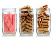Three Cookie Jars — Stock Photo