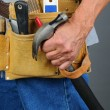 Closeup Contractor Tool Belt — Stock Photo