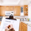Contractor Writing Estimate — Foto Stock