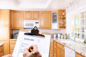Contractor Writing Estimate — Stock Photo
