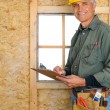 Contractor with Clipboard — Stock Photo