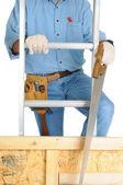 Capenter Climbing Ladder — Stock Photo