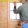 Contractor Measuring — Stock Photo