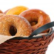 Bagels in Basket — Foto de stock #26398639