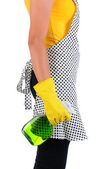 Cleaner With Spray Bottle — Stock Photo