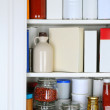 Closeup of a Well Stocked Pantry — Stock Photo