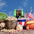 Fourth of July Picnic Table — Stock Photo #26851759