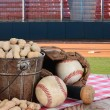 Peanuts and Baseball Stadium — Stock Photo