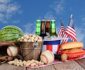 Fourth of July Picnic Table — Stock Photo
