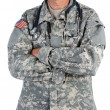 Military Doctor in Combat Uniform — Stock Photo