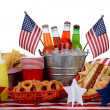 Picnic Table Fourth of July Theme — Stock Photo #27134209