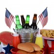 Stock Photo: Fourth of July Picnic Table