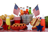 Tema de cuarto de julio mesa picnic — Foto de Stock