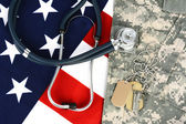 Military Health Care Concept — Stock Photo