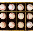 Baseballs in Wood Box — Stock Photo #27641459